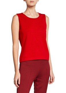 St. John Santana Scoop-Neck Knit Shell