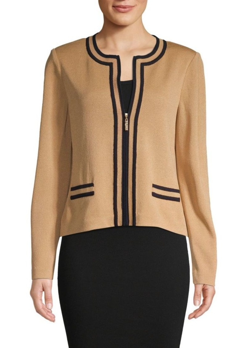 St. John Santana Stripe Knit Jacket
