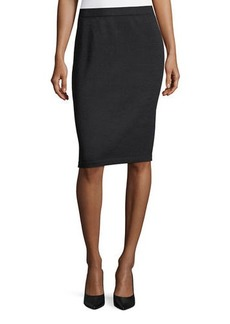 St. John Santana Wool Knit Pencil Skirt