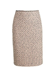 St. John Scarlett Tweed Wool Pencil Skirt