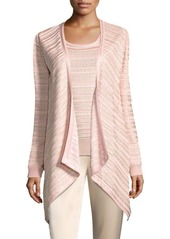 St. John Sequin Draped Wrap Cardigan