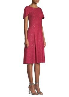 St. John Sequin Inlaid A-Line Dress