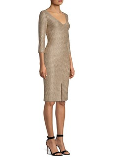 St. John Sequin-Knit Fitted Dress