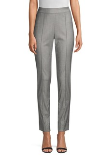 St. John Shark Skin Stretch Wool Suiting Pants