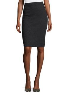 St. John Shimmer Boucle Skirt