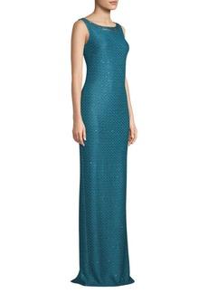 St. John Shimmer Sequin Knit Gown
