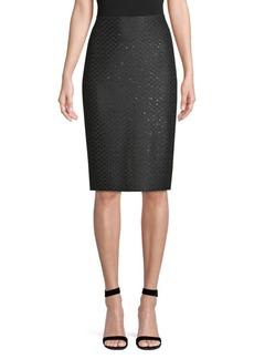 St. John Shimmer Sequin Pencil Skirt