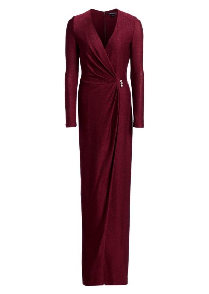 St. John Shimmer Wrap Knit Gown