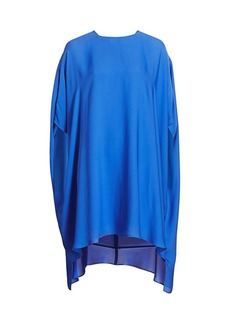 St. John Silk Georgette Handkerchief Dress