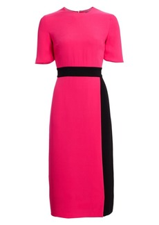 St. John Silk Georgette Midi Dress