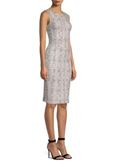 St. John Space Dye Overlay Sheath Dress