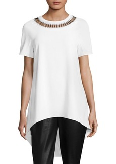 St. John Beaded Neck Top