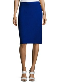 St. John Boucle-Knit Pull-On Pencil Skirt