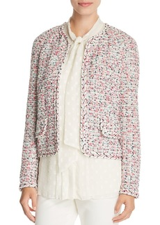 St. John Braid-Trimmed Tweed Jacket