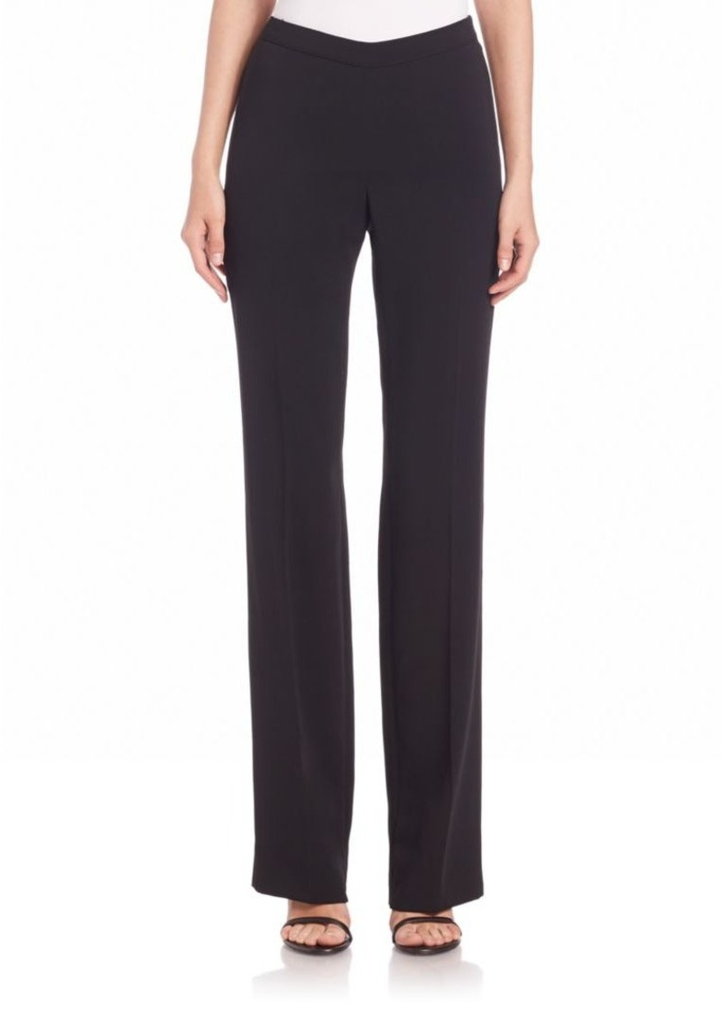 St. John Cady Stretch-Silk Bootleg Pants