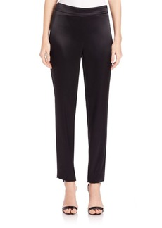 St. John Caviar Collection Kate Satin Pants