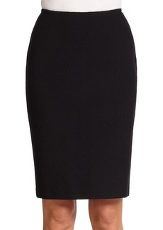 St. John Caviar Collection Micro Boucle Knit Pencil Skirt