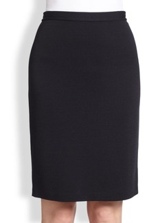 St. John Caviar Collection Milano Knit Pencil Skirt