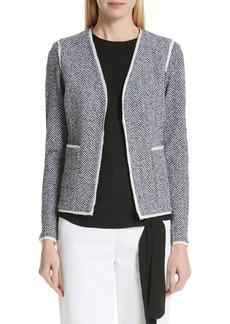 St. John Collection Abby Knit V-Neck Jacket