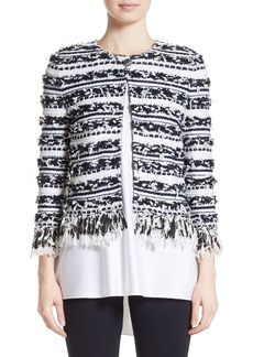 St. John Collection Adel Stripe Fringe Jacket