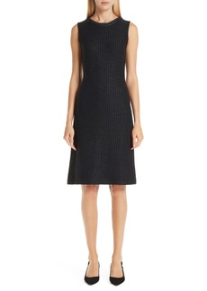 St. John Collection Adina Chain Trim Knit Dress
