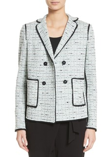 St. John Collection Adriana Tweed Double Breasted Blazer