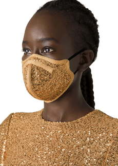 St. John Collection Adult Sequin Tweed Contoured Face Mask
