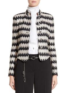 St. John Collection Advik Tweed Knit Jacket