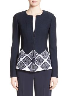 St. John Collection Ahem Knit Fil Coupé Jacket