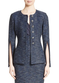 St. John Collection Alisha Sparkle Tweed Jacket