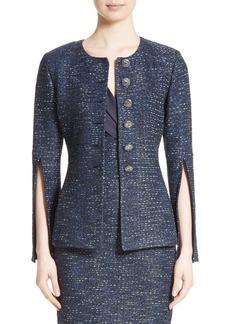 St. John Collection Alisha Sparkle Tweed Jacket