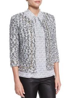 St. John Collection Amour Tweed 3/4-Sleeve Jacket