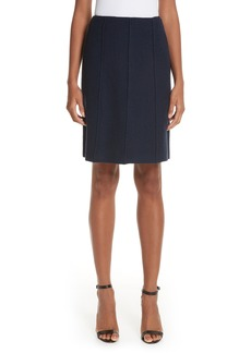 St. John Collection Ana Bouclé Knit A-Line Skirt