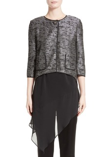 St. John Collection Anaya Metallic Knit Jacket