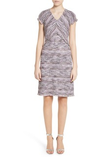 St. John Collection Anna Stripe Tweed Dress