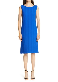 St. John Collection Architectural Ottoman Knit Sheath Dress (Nordstrom Exclusive)