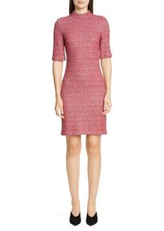 St. John Collection Artisanal Basket Weave Knit Dress