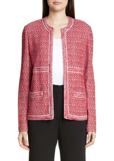 St. John Collection Artisanal Basket Weave Knit Jacket