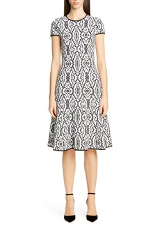 St. John Collection Artisanal Ikat Jacquard Sweater Dress