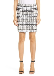 St. John Collection Artisanal Plaid Skirt