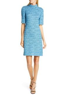 St. John Collection Artisanal Space Dye Stripe Knit Dress