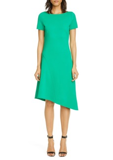 St. John Collection Asymmetrical Luxe Knit Dress