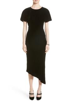 St. John Collection Asymmetrical Velvet Dress