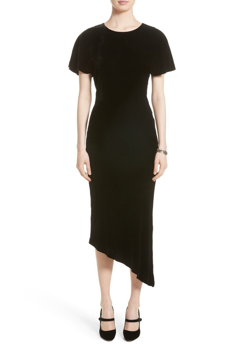 de499235a511 On Sale today! St. John St. John Collection Asymmetrical Velvet Dress