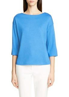 St. John Collection Bateau Neck Milano Stitch Sweater