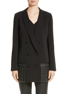 St. John Collection Beaded Double Breasted Blazer