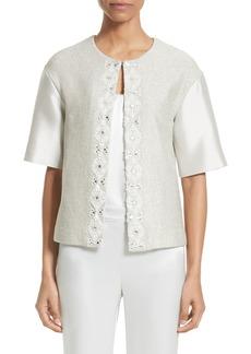 St. John Collection Beaded Jasmine Sparkle Knit Jacket