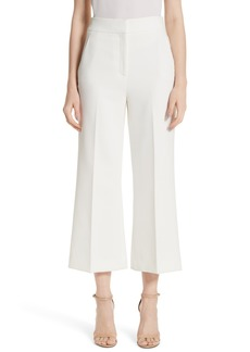 St. John Collection Bella Double Weave Crop Flare Pants