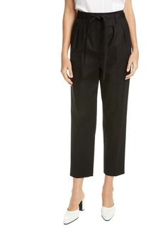 St. John Collection Belted Stretch Cotton Pants