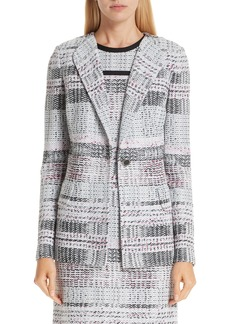 St. John Collection Bianca Plaid Knit Jacket